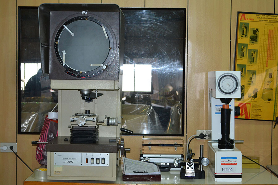 Projector & Rockwell Hardness test machine